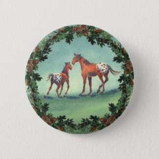 APPALOOSA SPOTS & BOUGHS by SHARON SHARPE Button