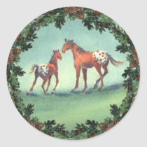 APPALOOSA SPOTS & BOUGHS by SHARON SHARPE Classic Round Sticker