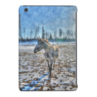 Appaloosa Stallion in the Snow Horse - Equine Art iPad Mini Retina Case