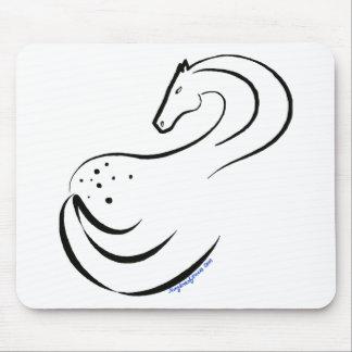 Appaloosa stylized ink drawing mouse pad