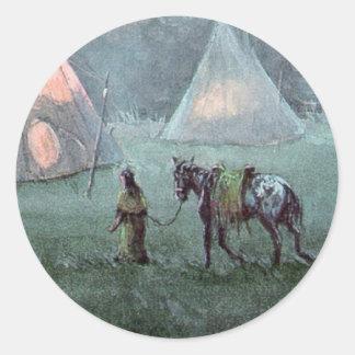 APPALOOSA & TIPI by SHARON SHARPE Classic Round Sticker