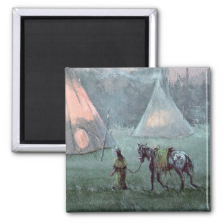APPALOOSA & TIPI CAMP by SHARON SHARPE Magnet
