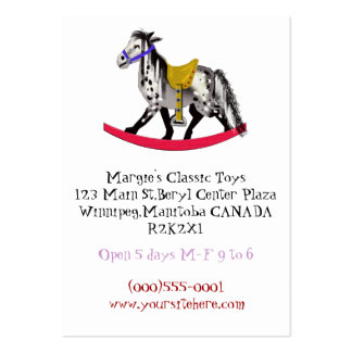 appaloosa toy store business card template