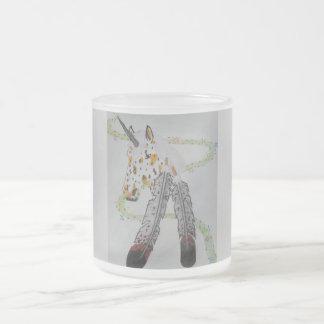 Appaloosa Unicorn Gift Products Frosted Glass Coffee Mug