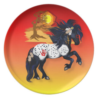 Appaloosa War Pony back groud Plates
