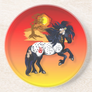 Appaloosa War Pony - background Coasters