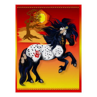 Appaloosa War Pony - background  Poster