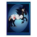 Appaloosa War Pony Oval Card