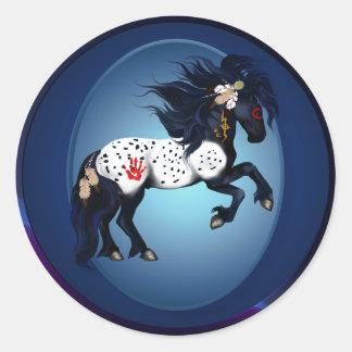 Appaloosa War Pony Oval Sticker
