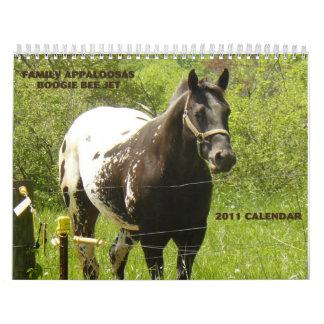 Appaloosas 2011 de la familia calendarios