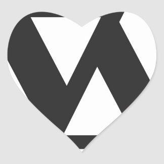 apparel APPAREL Heart Sticker