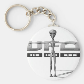 Apparel for adults and teenagers with UFO Basic Round Button Keychain