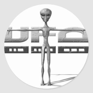 Apparel for adults and teenagers with UFO Classic Round Sticker