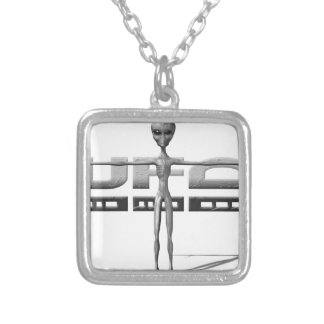 Apparel for adults and teenagers with UFO Personalized Necklace