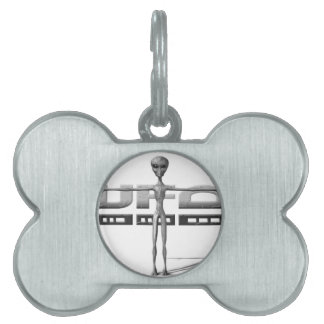 Apparel for adults and teenagers with UFO Pet ID Tag