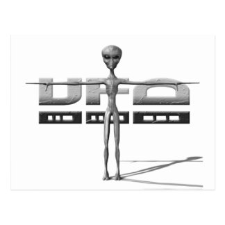 Apparel for adults and teenagers with UFO Post Cards