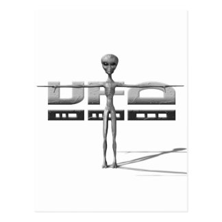 Apparel for adults and teenagers with UFO Postcard