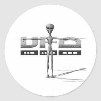 Apparel for adults and teenagers with UFO Round Sticker