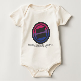 Apparel - Large Bisexual Round with Tag and URL Baby Bodysuit