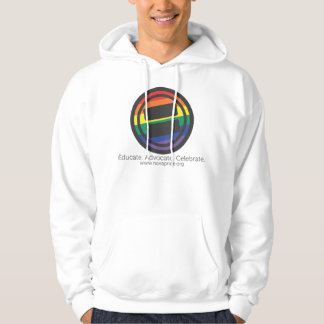 Apparel - Large LGBT Round with Tag and URL Front Hoodie