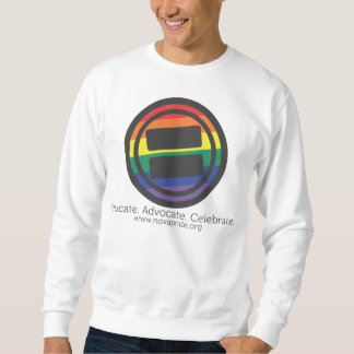 Apparel - Large LGBT Round with Tag and URL Front Sweatshirt