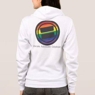 Apparel - Large LGBT Round with Tag and URL Hoodie
