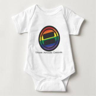 Apparel - Large LGBT Round with Tag Front Baby Bodysuit