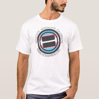 Apparel - Large Transgender Round with round text T-Shirt