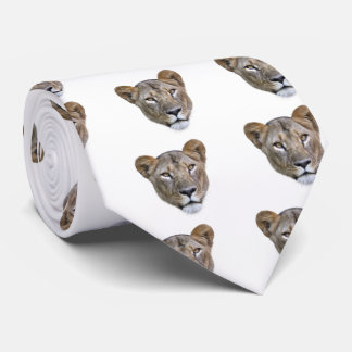 Apparel of lion of female neck tie