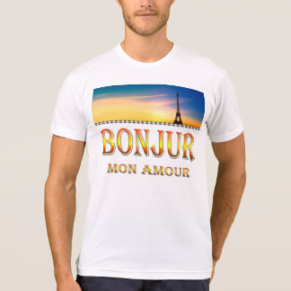 Apparel Poly-Cotton BlendT-Shirt-Bonjour mon amour T-shirt