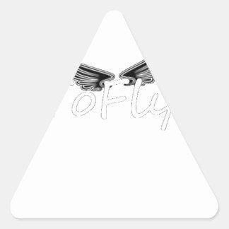 apparel triangle sticker