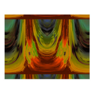 Apparition 3 in Orange and Green Hot Abstract Postcard