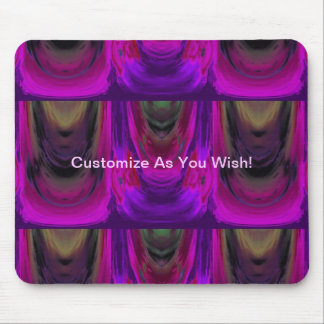 Apparition 9 in Magenta and Violet Hot Abstract Mouse Pad