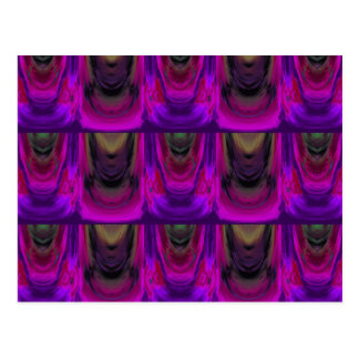 Apparition 9 in Magenta and Violet Hot Abstract Postcard
