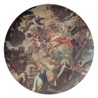Apparition of St. Joseph to St. Theresa Plate