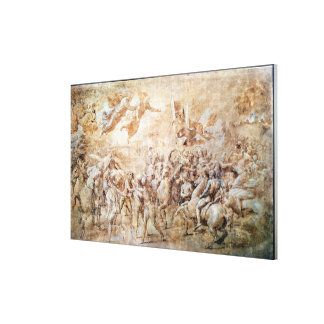 Apparition of St. Peter and St. Paul Canvas Print