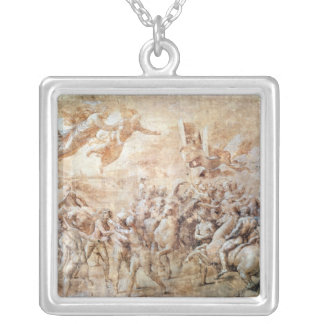 Apparition of St. Peter and St. Paul Square Pendant Necklace