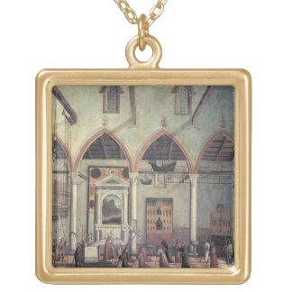 Apparition of the Crucified of Mount Ararat in the Square Pendant Necklace
