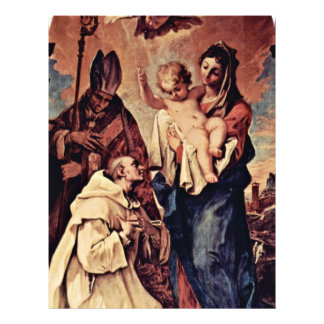 """Apparition Of The Virgin In Front Of The St. Bruno 8.5"""" X 11"""" Flyer"""
