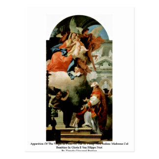 Apparition Of The Virgin Postcard
