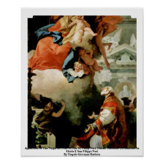 Apparition Of The Virgin Print
