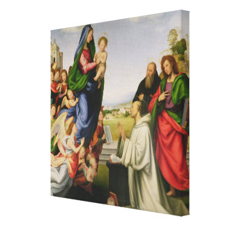 Apparition of the Virgin to St. Bernard, 1504-07 ( Gallery Wrapped Canvas