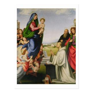 Apparition of the Virgin to St. Bernard, 1504-07 ( Postcard