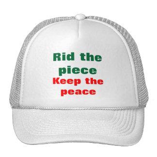 Appeal for peace trucker hats