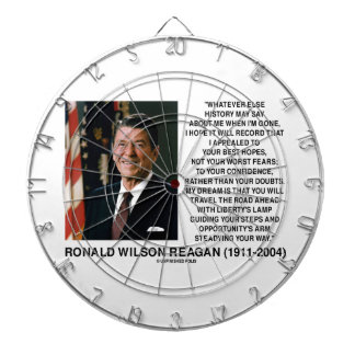 Appealed To Your Best Hopes Not Worst Fears Reagan Dart Board
