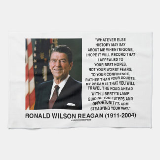 Appealed To Your Best Hopes Not Worst Fears Reagan Hand Towels