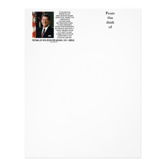 Appealed To Your Best Hopes Not Worst Fears Reagan Letterhead