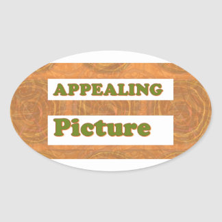 APPEALING Picture: Word Play   SECRET CODE dates Oval Sticker