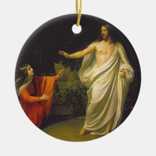 Appearance of Jesus Christ to Maria Magdalina Ceramic Ornament