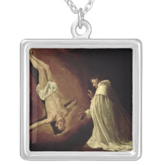 Appearance of St. Peter to St. Peter Nolasco Square Pendant Necklace